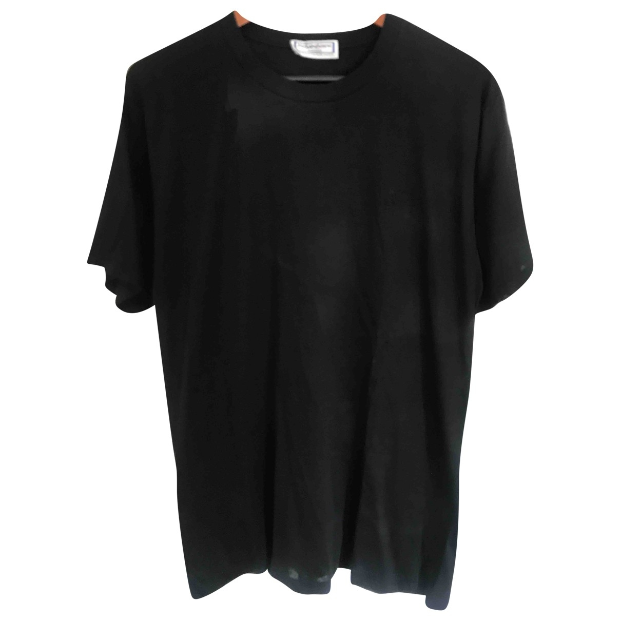 Yves Saint Laurent \N Black Cotton T-shirts for Men XL International