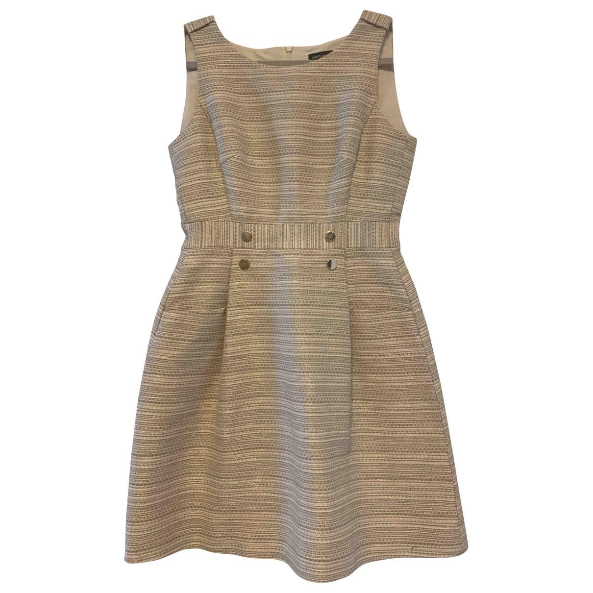 Karen Millen - Robe   pour femme en coton - beige