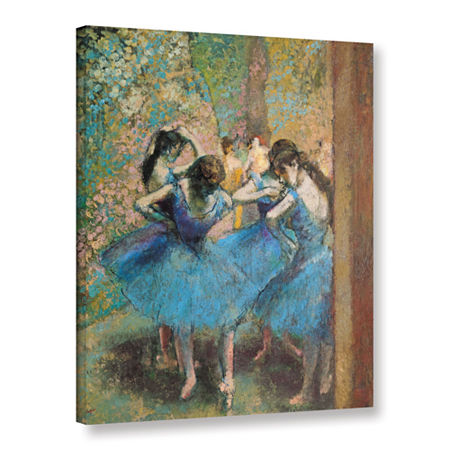 Brushstone Dancers in Blue Gallery Wrapped Canvas Wall Art, One Size , Blue