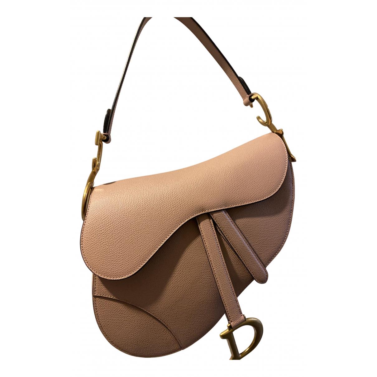 Dior - Sac a main Saddle pour femme en cuir