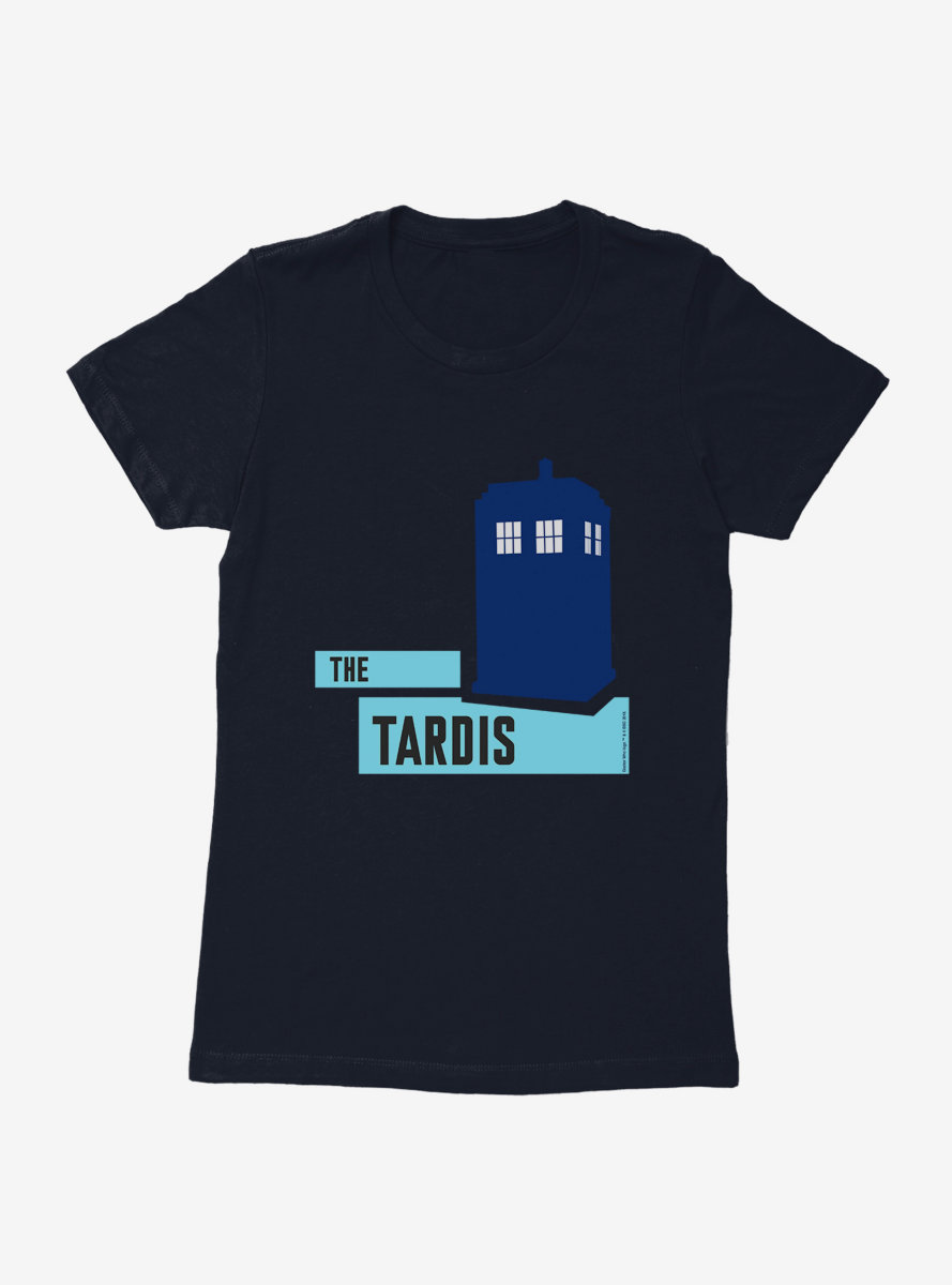 Doctor Who TARDIS Classic Silhouette Womens T-Shirt