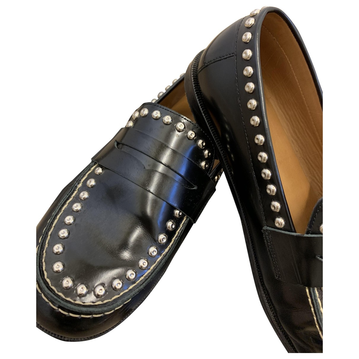Isabel Marant \N Black Leather Flats for Women 38 EU
