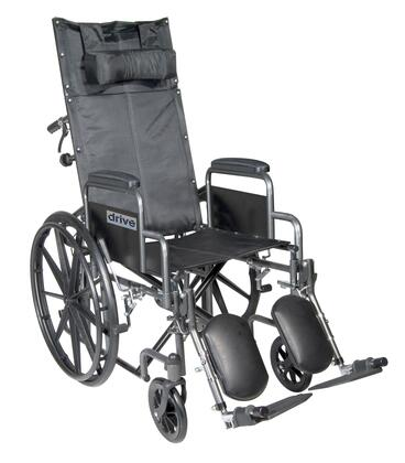 ssp16rbdda Silver Sport Reclining Wheelchair With Elevating Leg Rests  Detachable Desk Arms  16