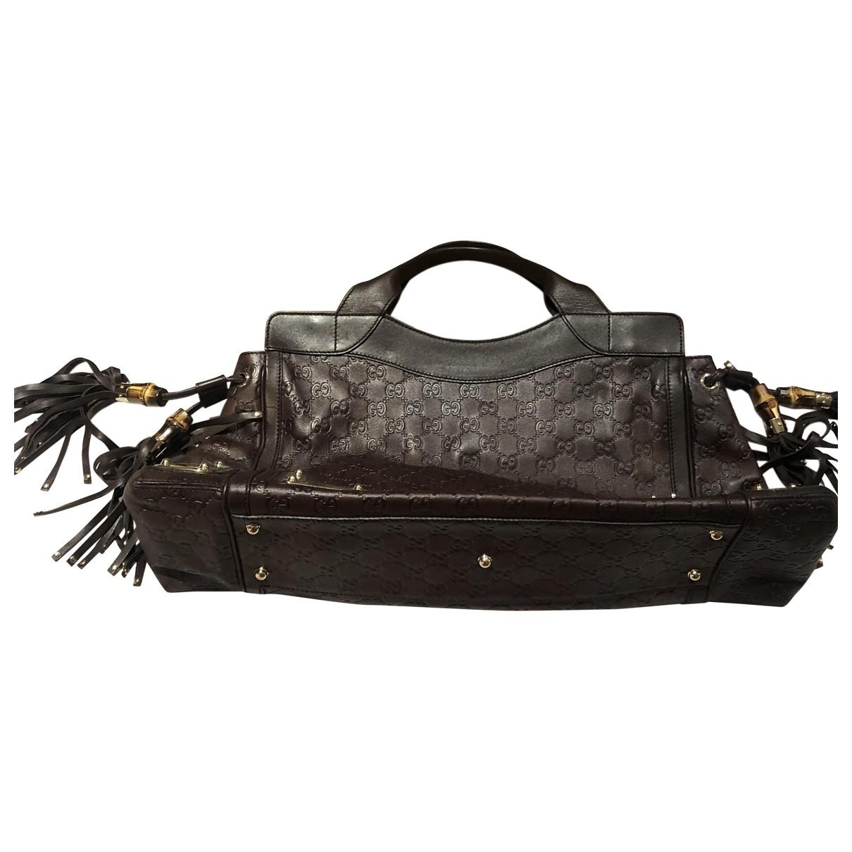 Gucci \N Burgundy Leather handbag for Women \N