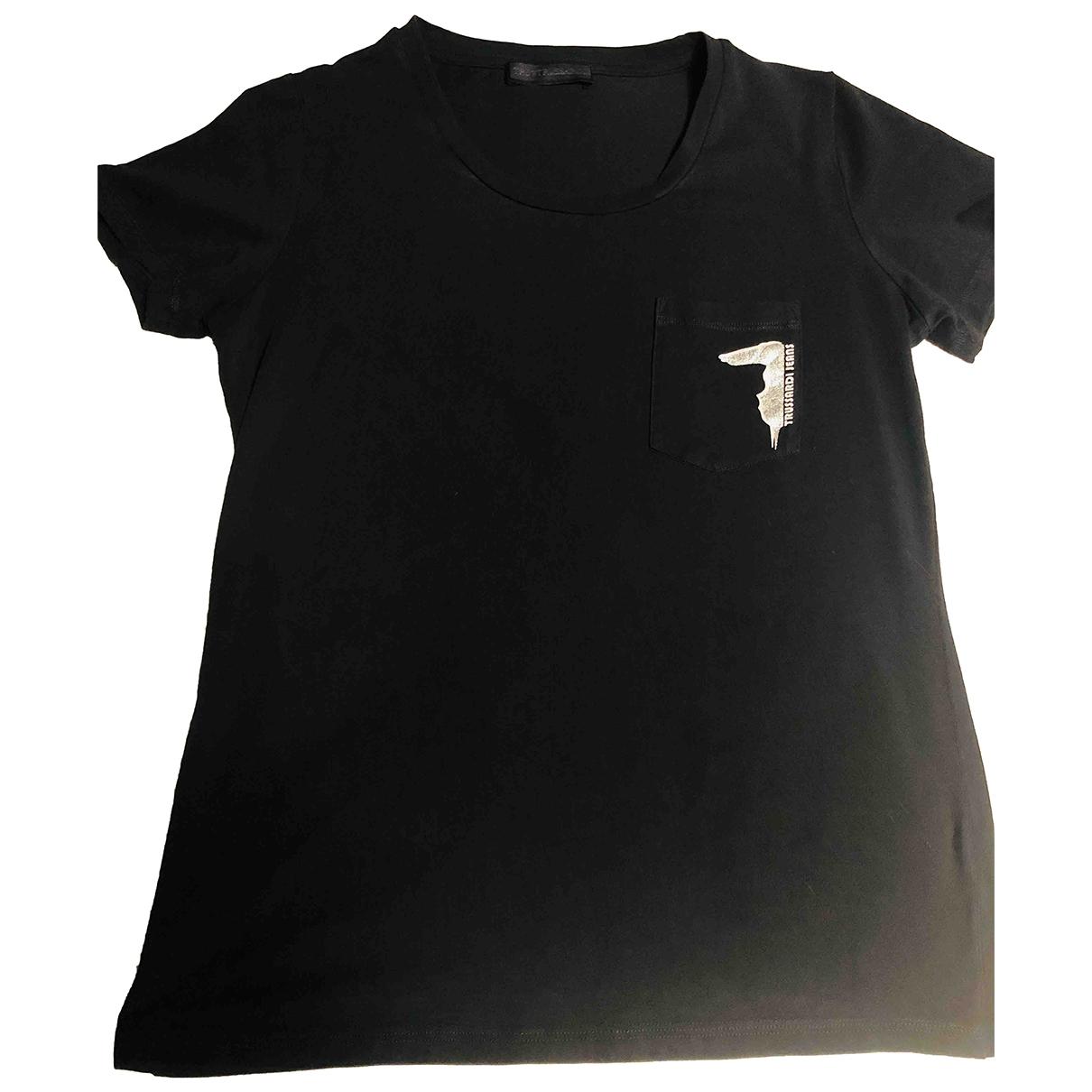 Trussardi - Top   pour femme en coton - noir