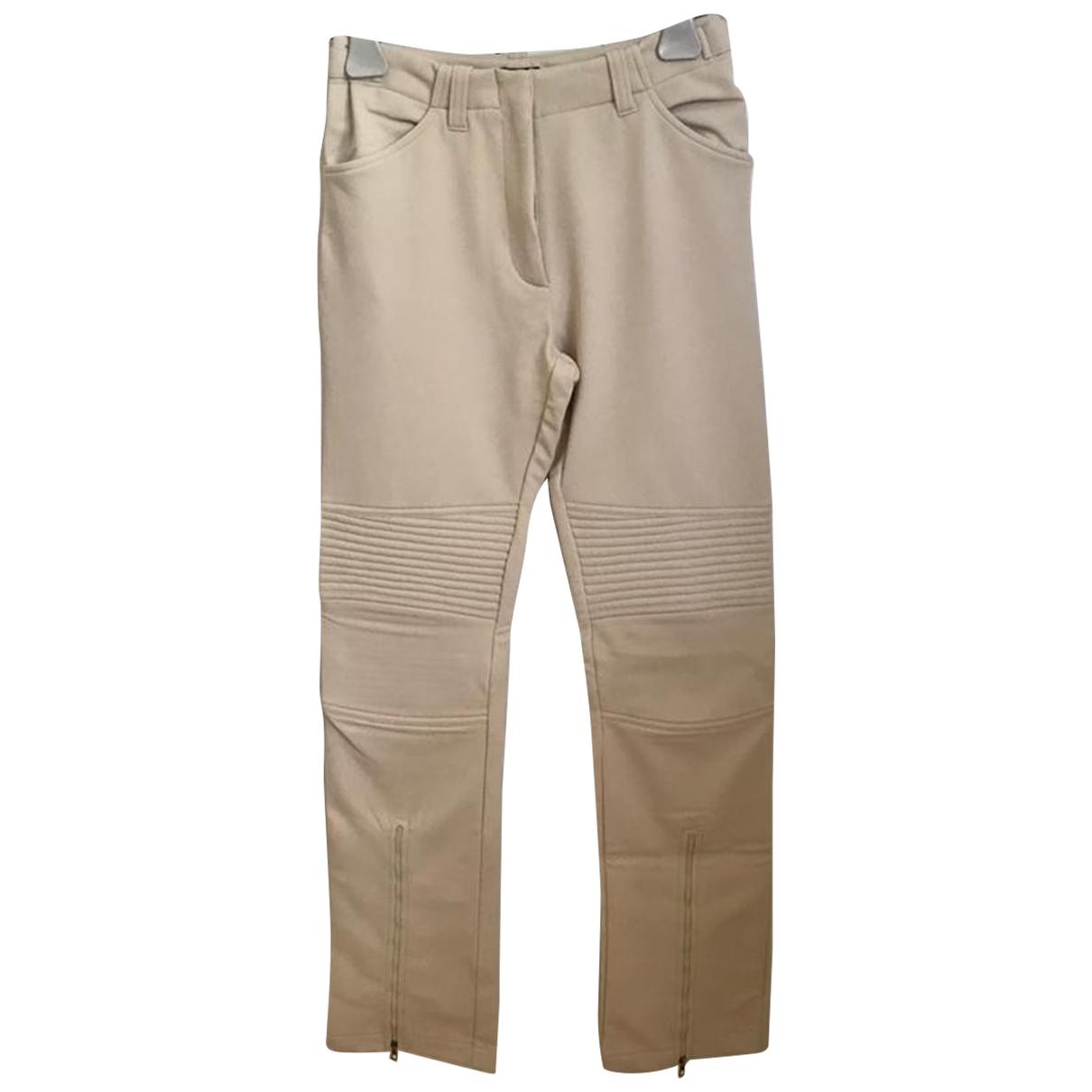 Moncler \N Ecru Trousers for Women 40 IT