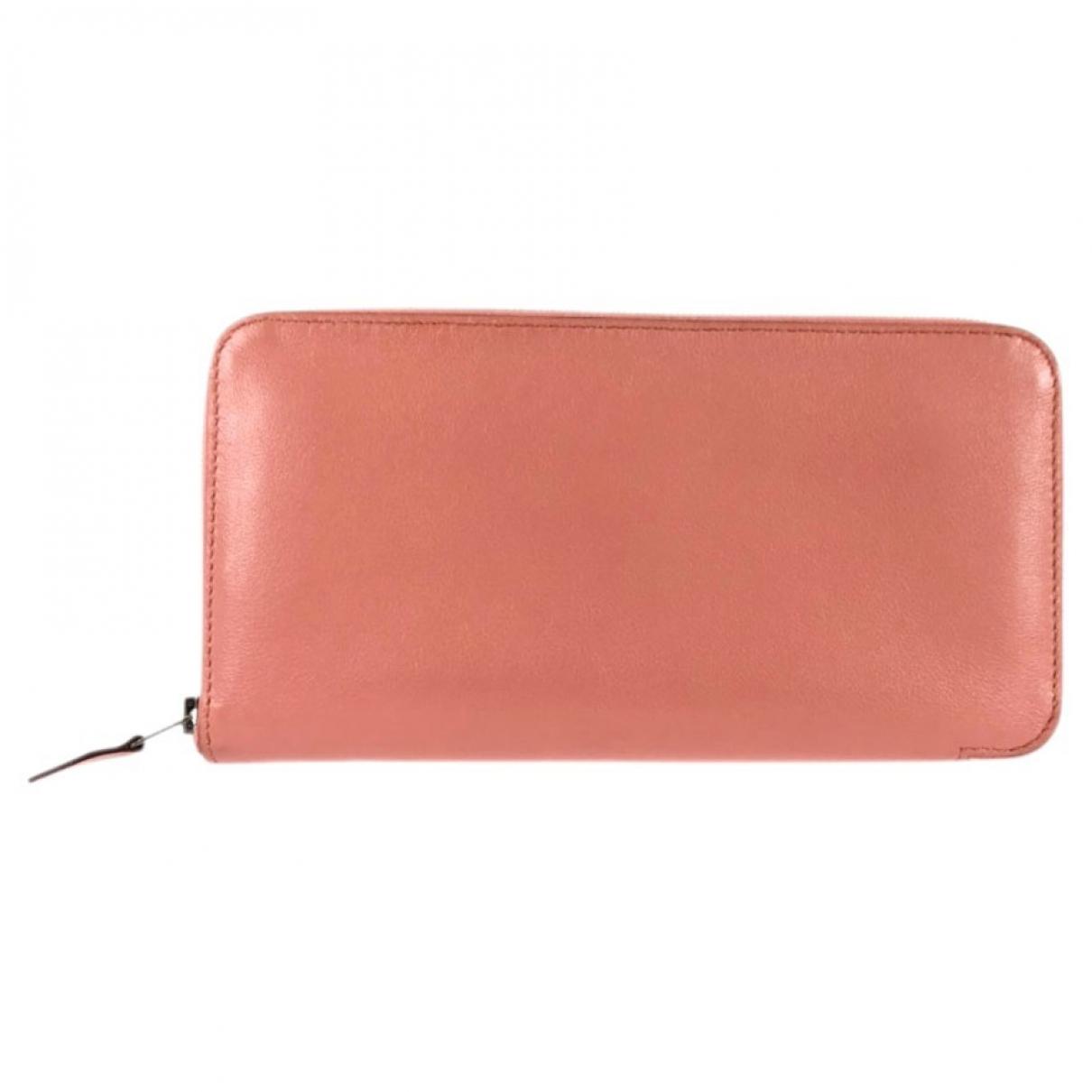 Hermes - Portefeuille Azap pour femme en cuir - rose