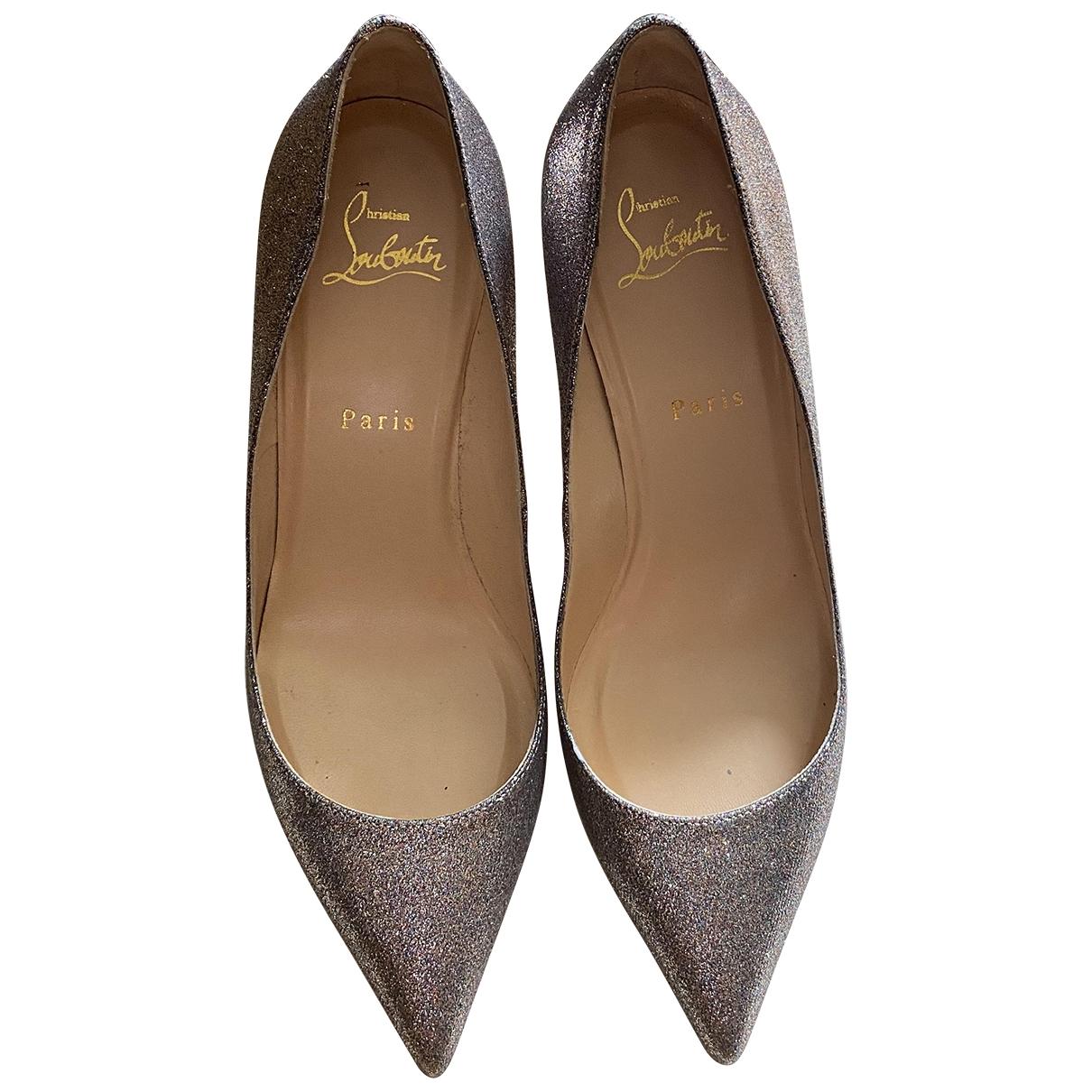 Christian Louboutin Pigalle Metallic Glitter Heels for Women 39 EU