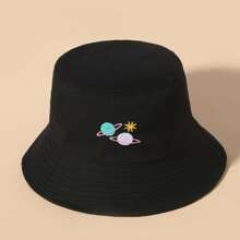 Planet Embroidered Bucket Hat