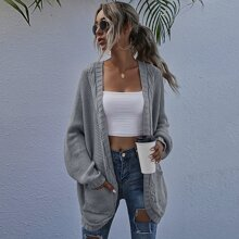 Double Pocket Batwing Sleeve Cardigan