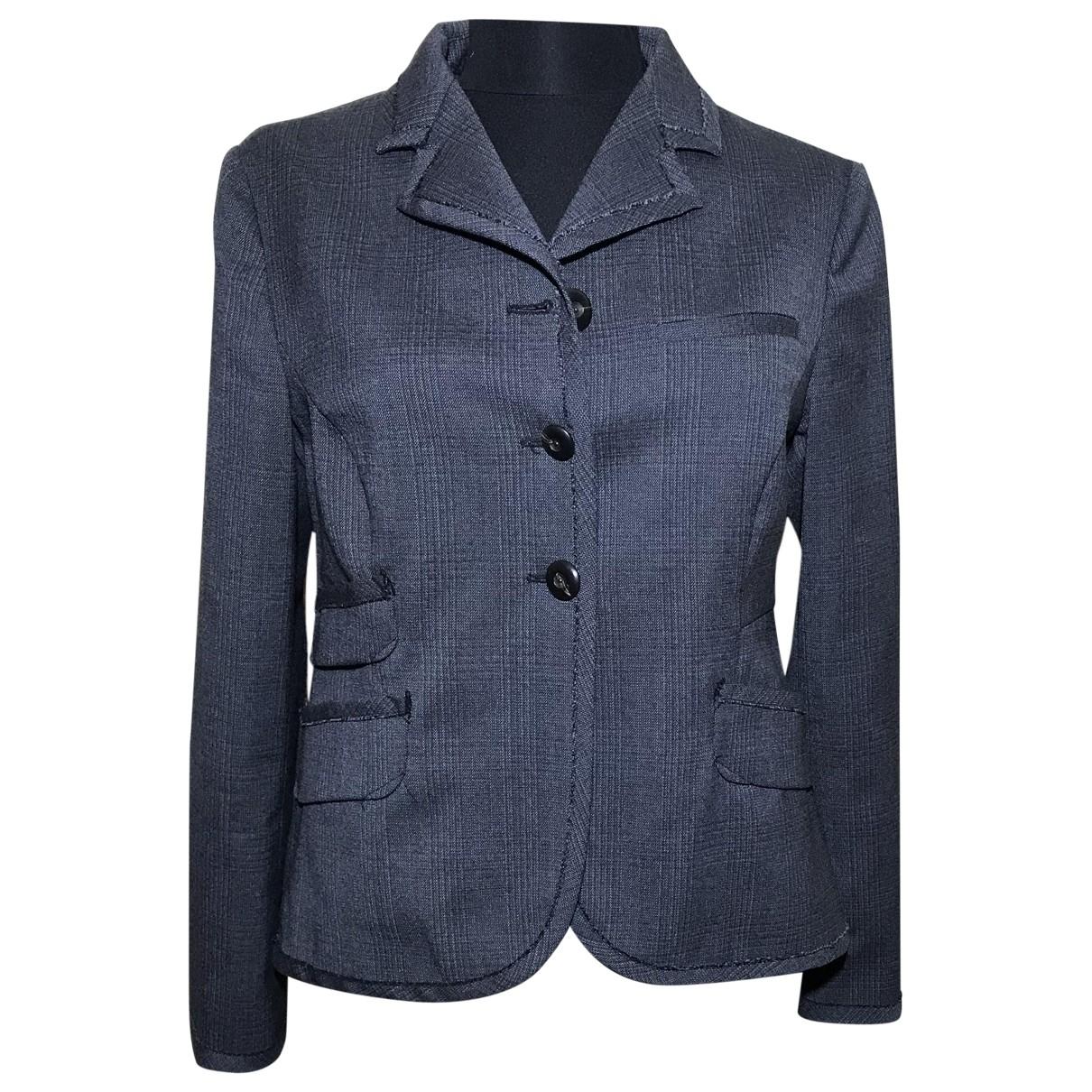 Miu Miu \N Anthracite Wool jacket for Women 42 IT