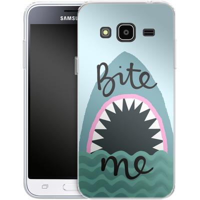 Samsung Galaxy J3 (2016) Silikon Handyhuelle - Bite Me von caseable Designs