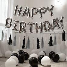 46 piezas set globo de cumpleaños con fleco