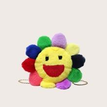 Floral Fluffy Crossbody Bag