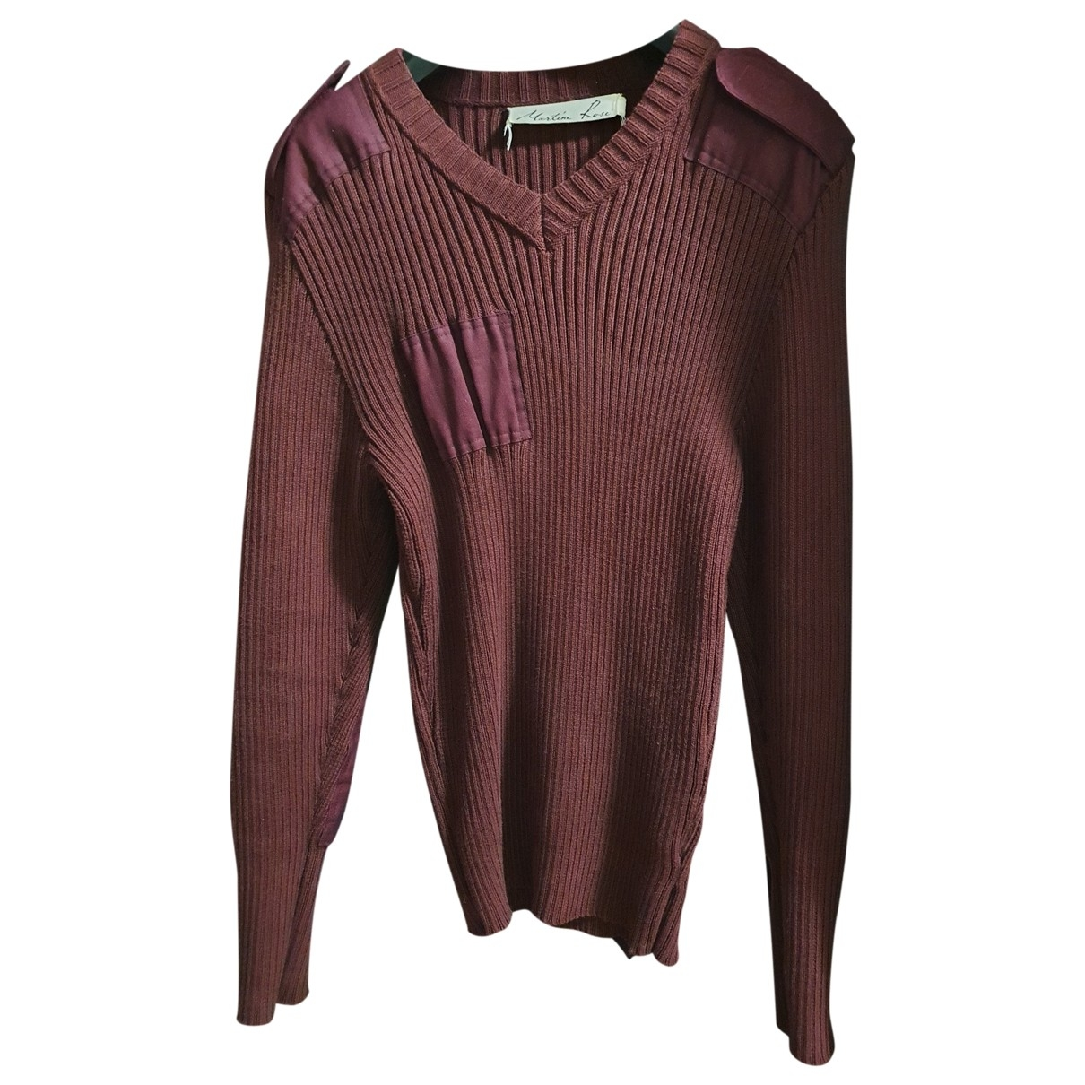 Martine Rose \N Burgundy Cotton Knitwear & Sweatshirts for Men L International