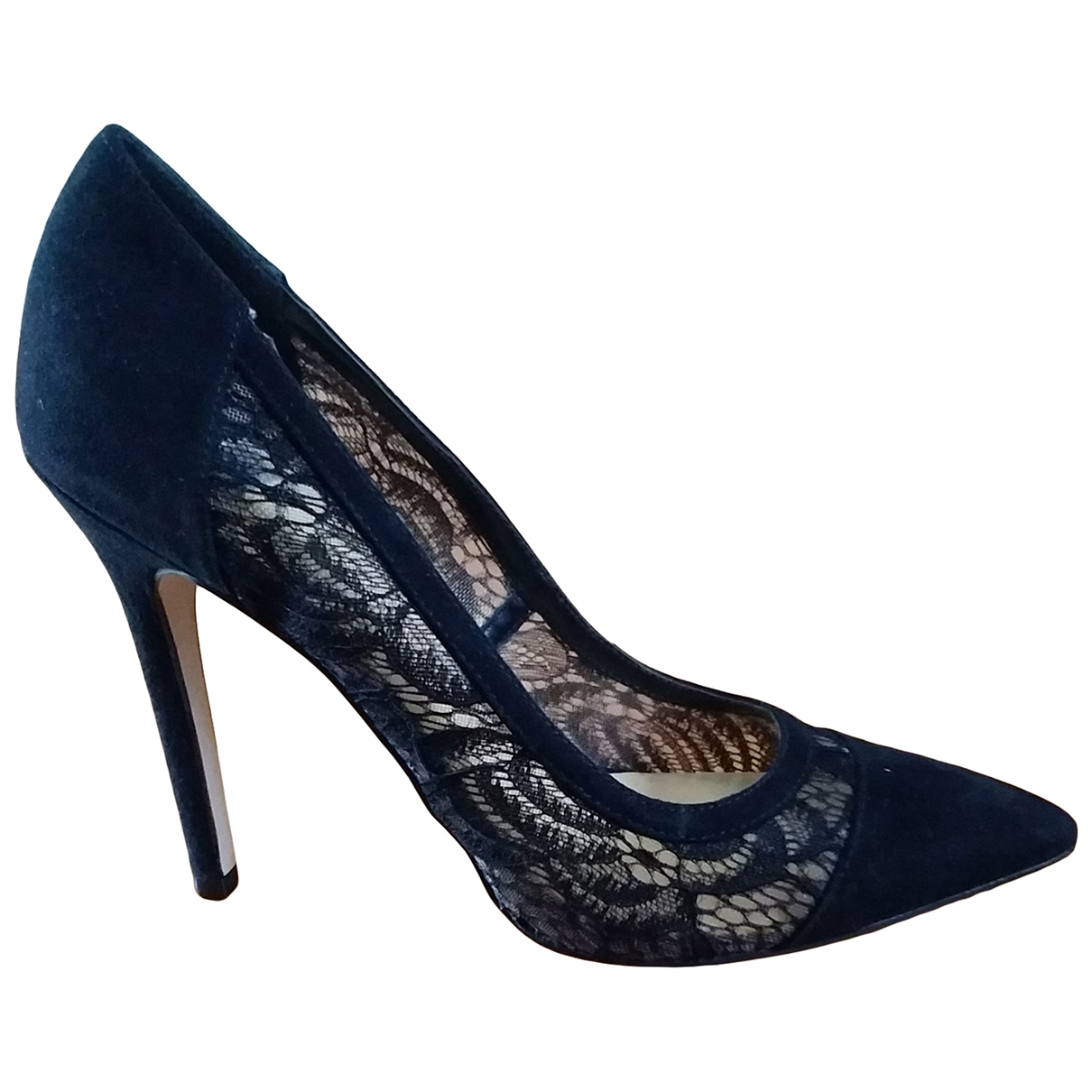 Non Signé / Unsigned \N Black Suede Heels for Women 38 IT