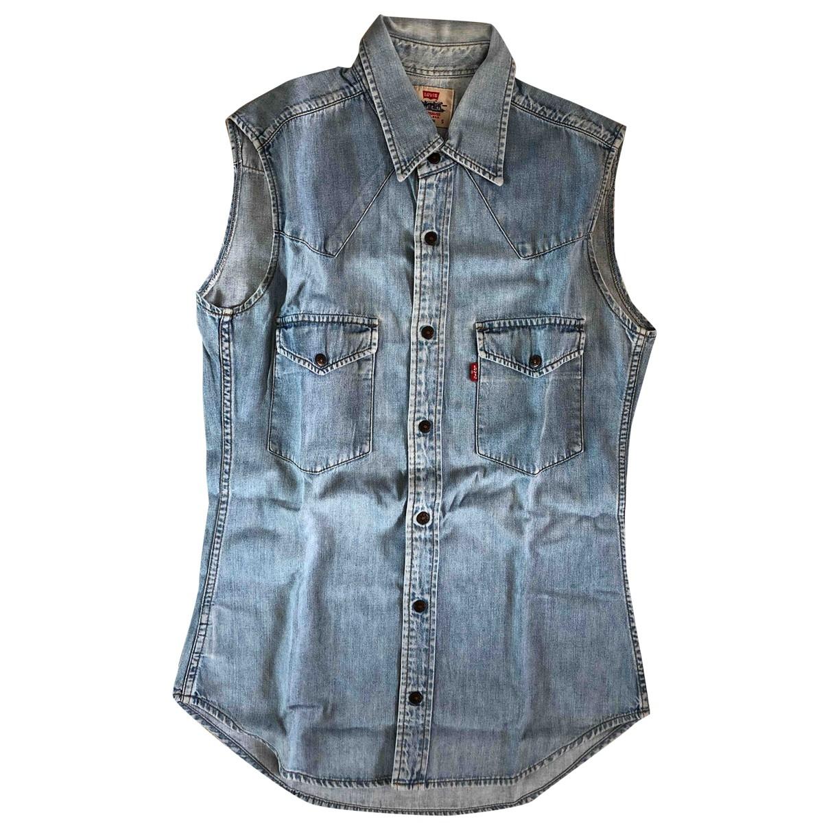 Levis Vintage Clothing - Top   pour femme en denim - turquoise