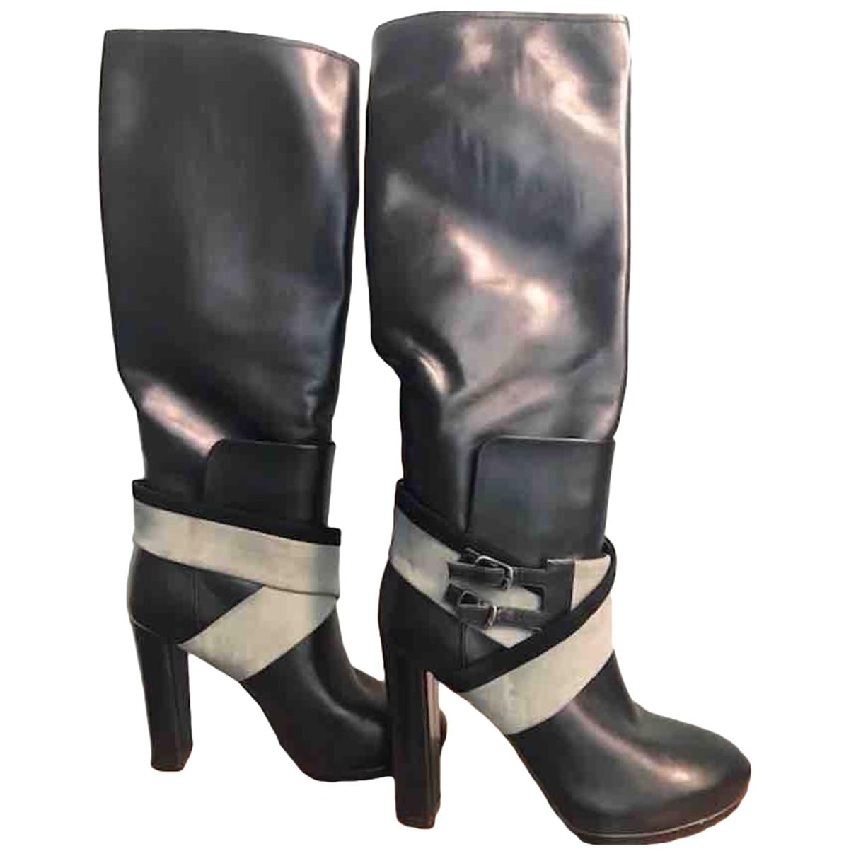 Balenciaga \N Black Leather Boots for Women 35 EU