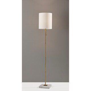 Adesso Fiona Floor Lamp (Antique Brass)