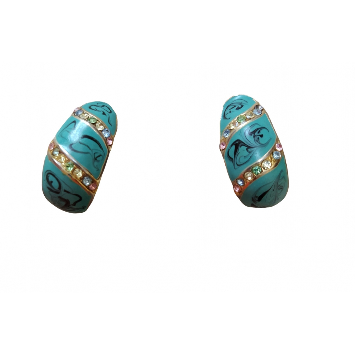 Non Signe / Unsigned Turquoises OhrRing in  Tuerkis Metall