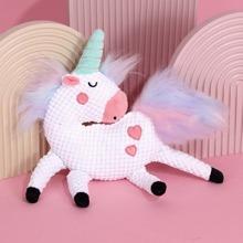 Unicorn Design Plush Dog Toy
