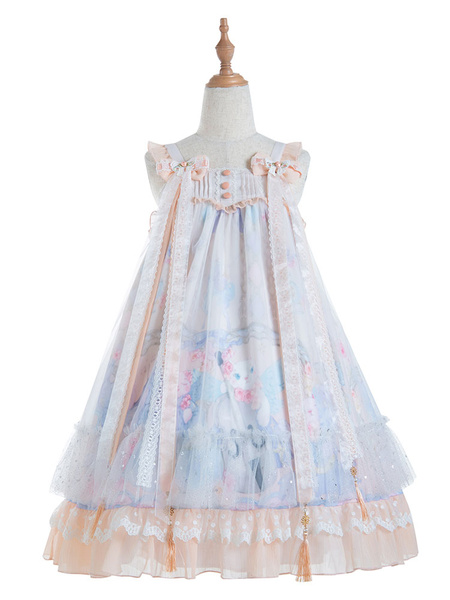 Milanoo Chinese Style Lolita JSK Dress Violin Cat Bows Lolita Jumper Skirts