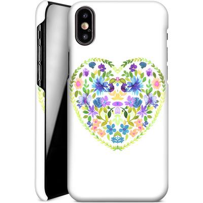 Apple iPhone XS Smartphone Huelle - Love Folk Olive Green von Amy Sia