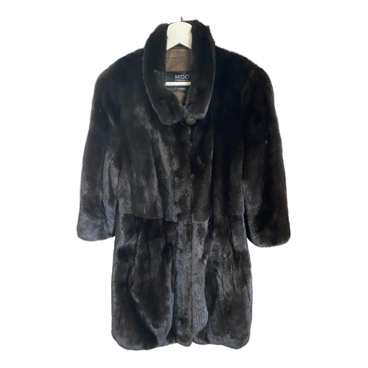 Mido - Manteau   pour femme en castor - marron