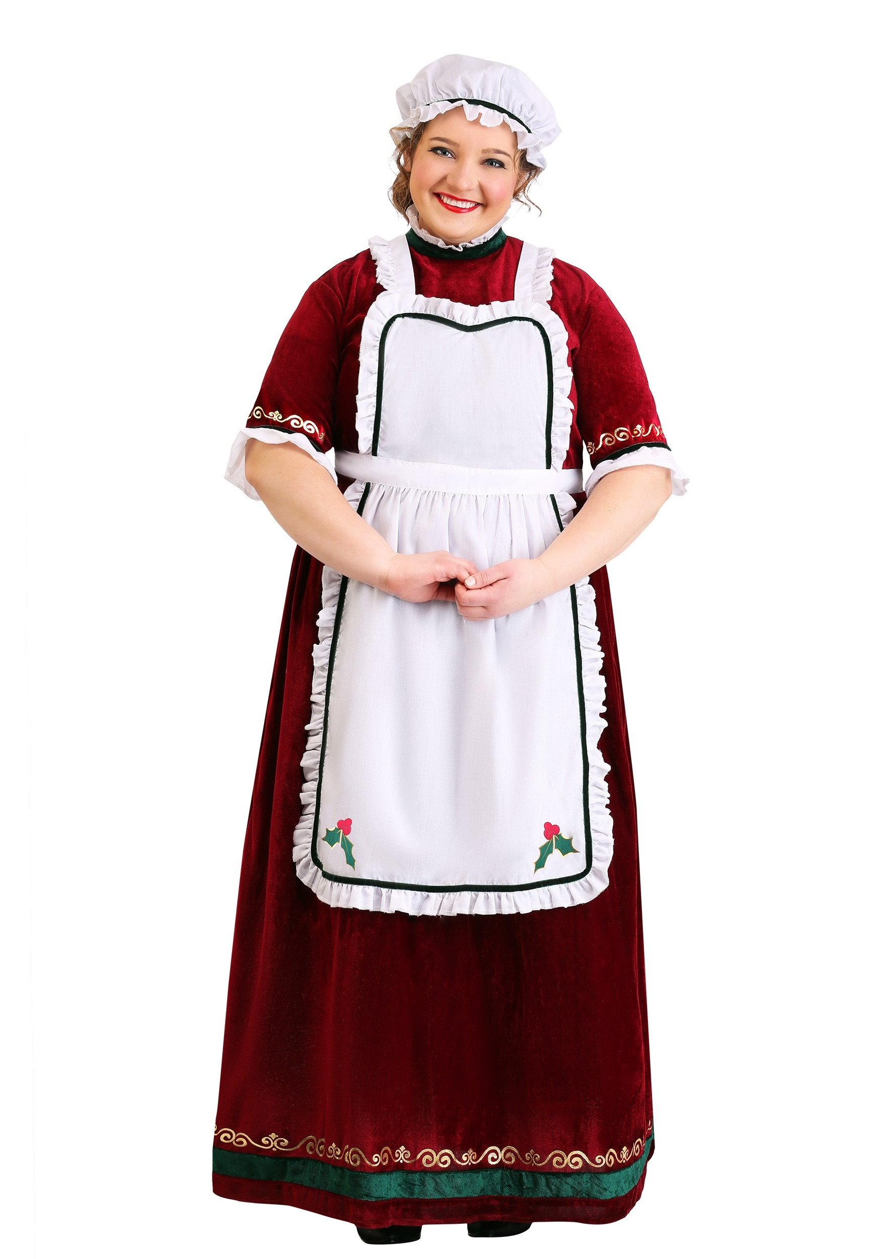 Mrs. Claus Holiday Costume Plus Size