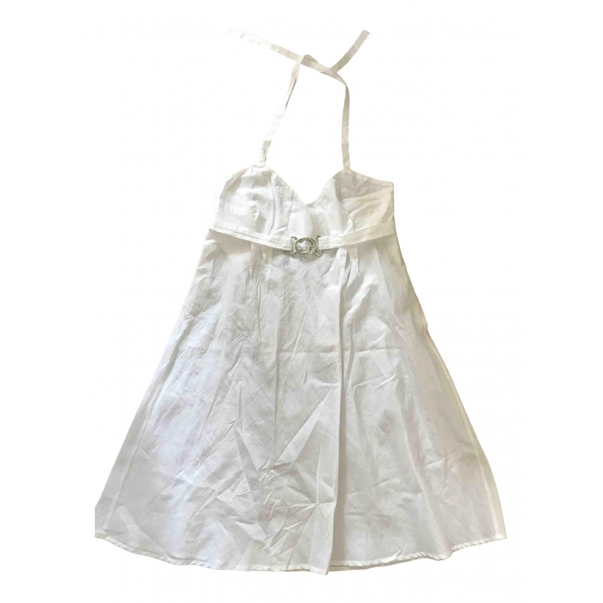 John Galliano \N White Cotton dress for Women 38 FR