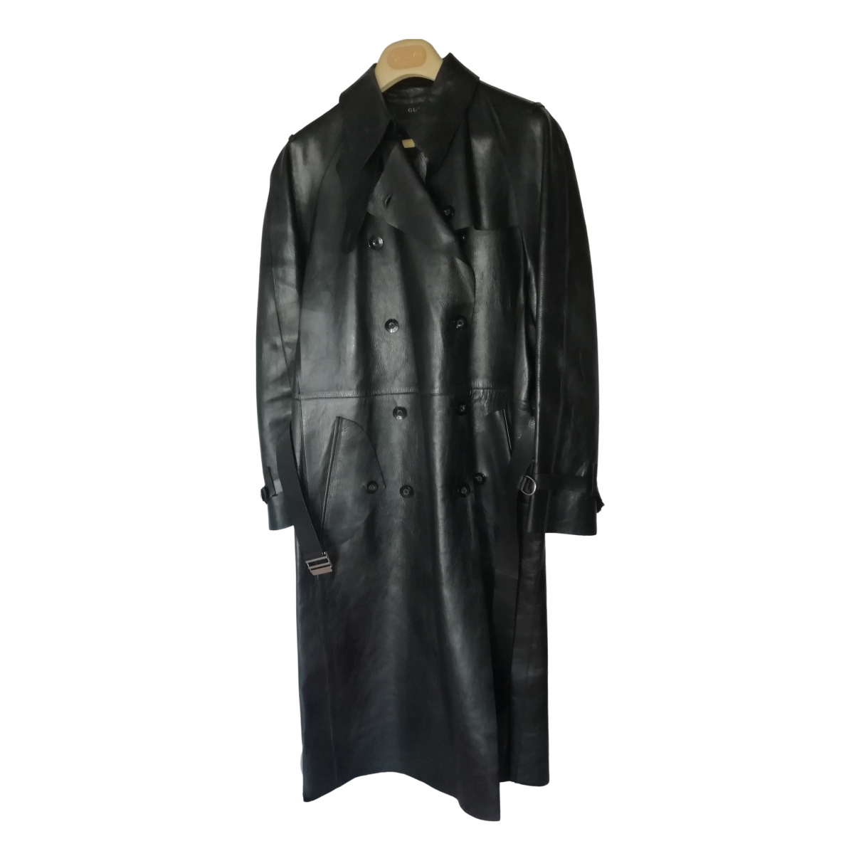Gucci \N Black Leather coat for Women 40 IT