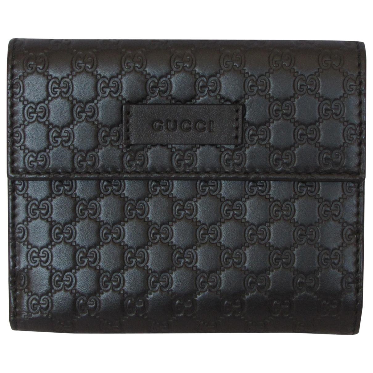 Gucci - Portefeuille Continental pour femme en cuir - marron