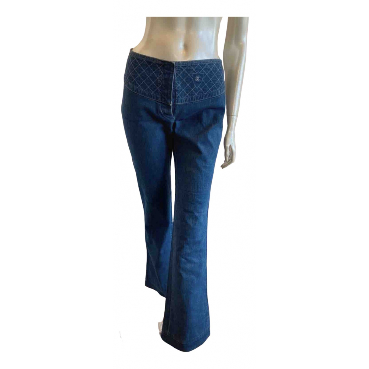 Chanel \N Blue Denim - Jeans Jeans for Women 38 FR