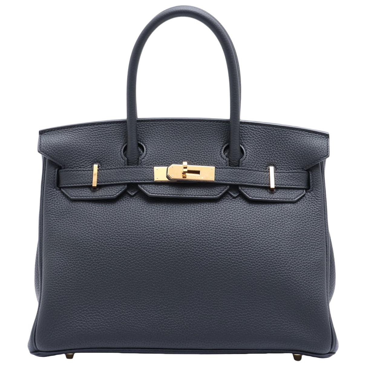 Hermès Birkin 30 Black Leather handbag for Women N