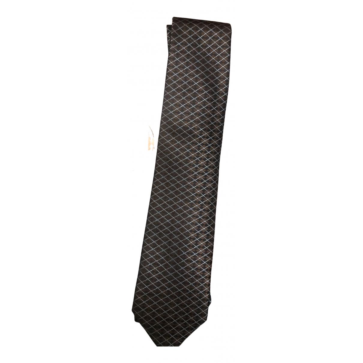 Giorgio Armani \N Krawatten in  Kamel Seide