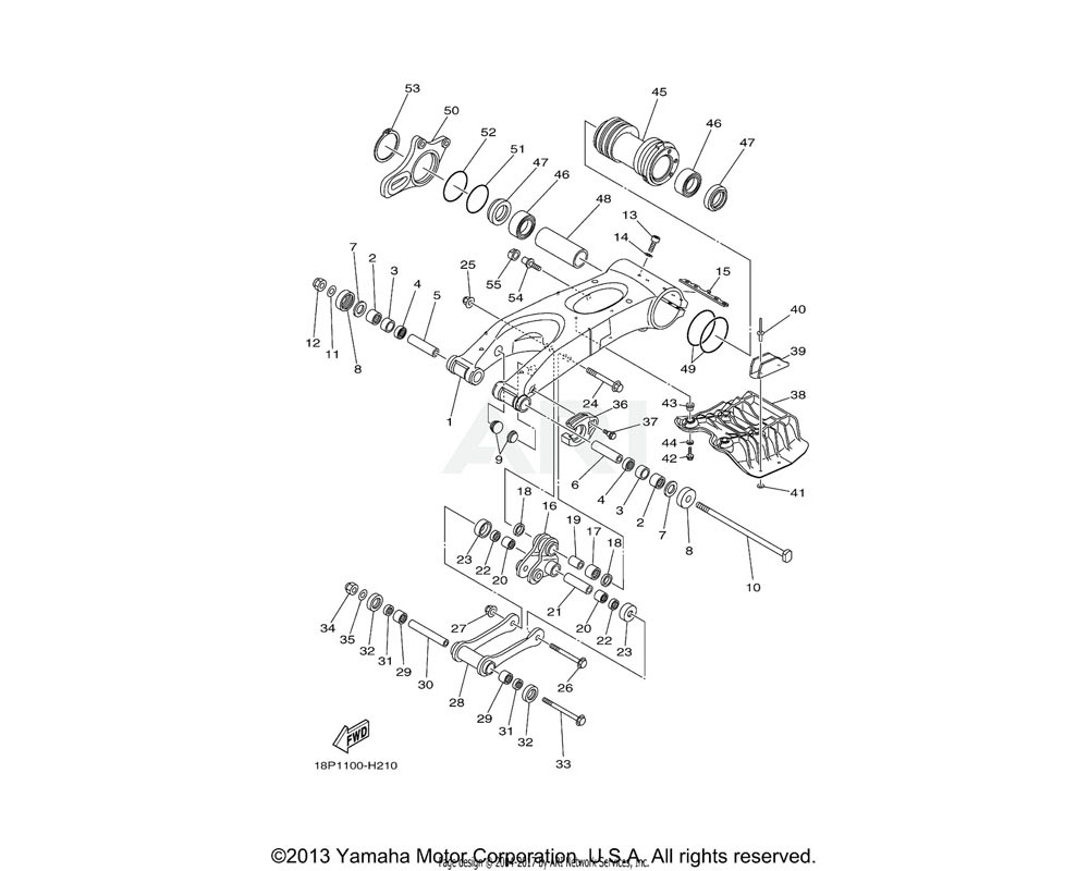 Yamaha OEM 18P-22151-10-00 SEAL, GUARD