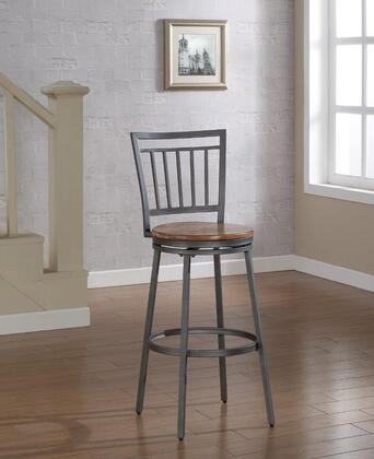 Filmore B1-101-25W 25 Counter Stool with 360 Swivel  Foot Rail and Golden Oak Seat in Slate