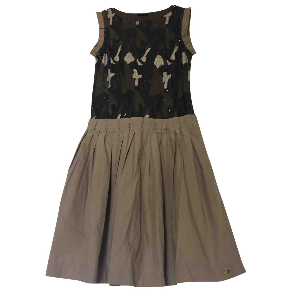 Diesel \N Kleid in  Beige Baumwolle