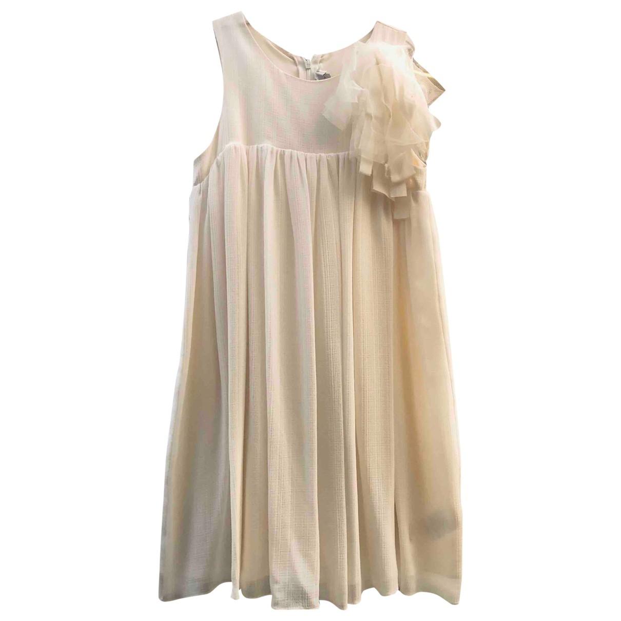 Dior - Robe    pour enfant en soie - beige