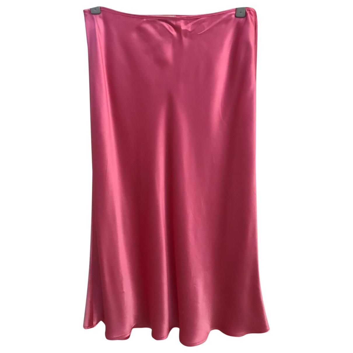 Blumarine \N Pink Silk skirt for Women 44 IT