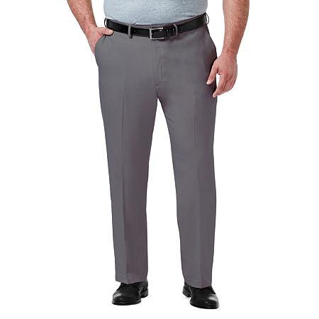 Haggar-Big and Tall Premium Comfort Dress Pant Mens Regular Fit, 46 34, Gray