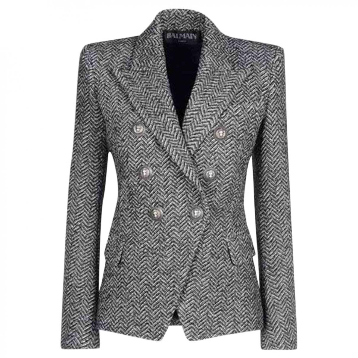 Balmain \N Grey Cotton  top for Women 42 FR