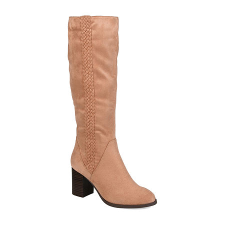 Journee Collection Womens Gentri Over the Knee Boots Stacked Heel, 7 1/2 Medium, Pink