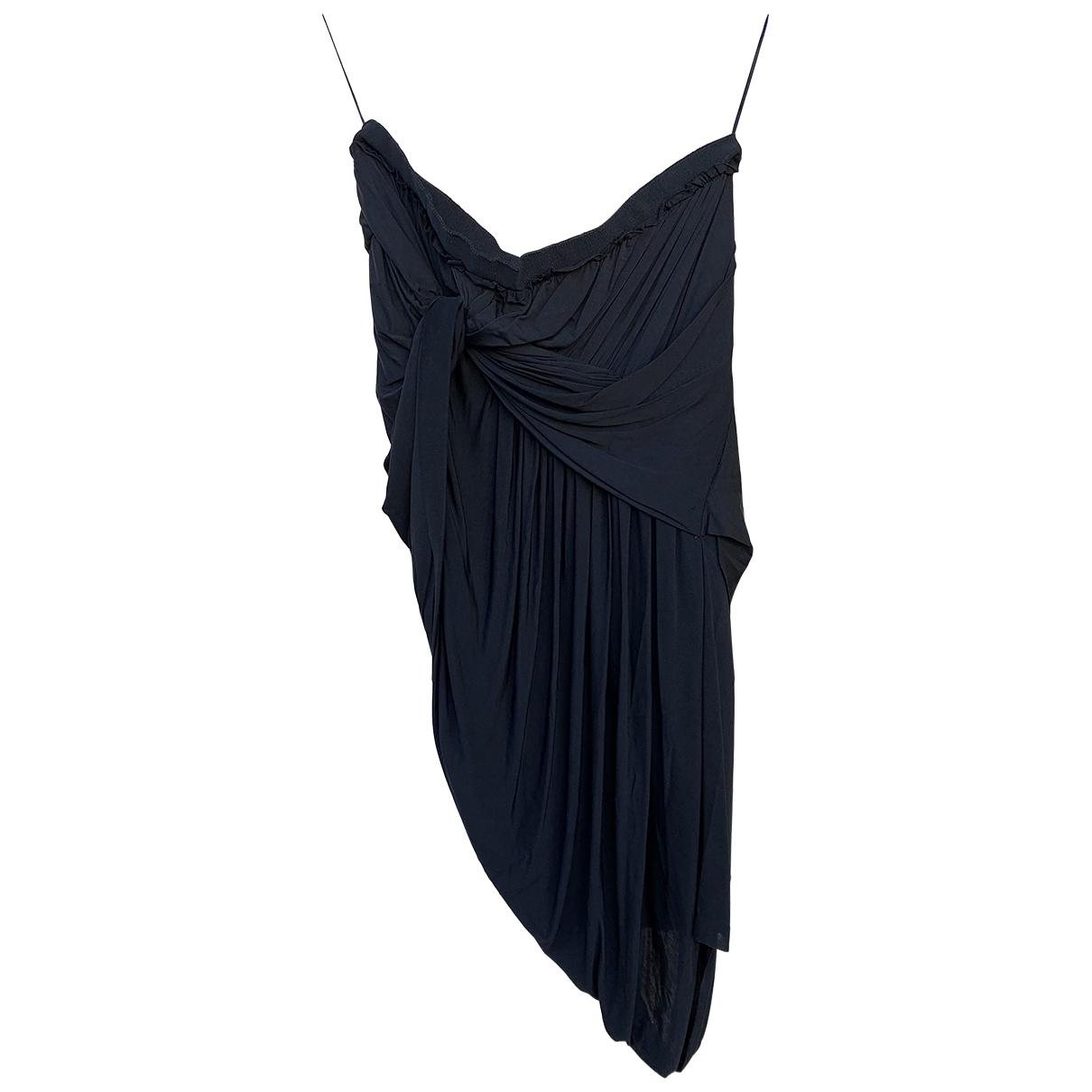 Carven - Jupe   pour femme en coton - elasthane - noir