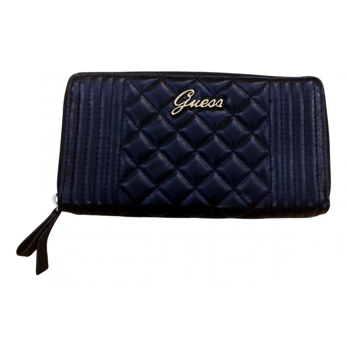Guess \N Clutch in  Schwarz Leder