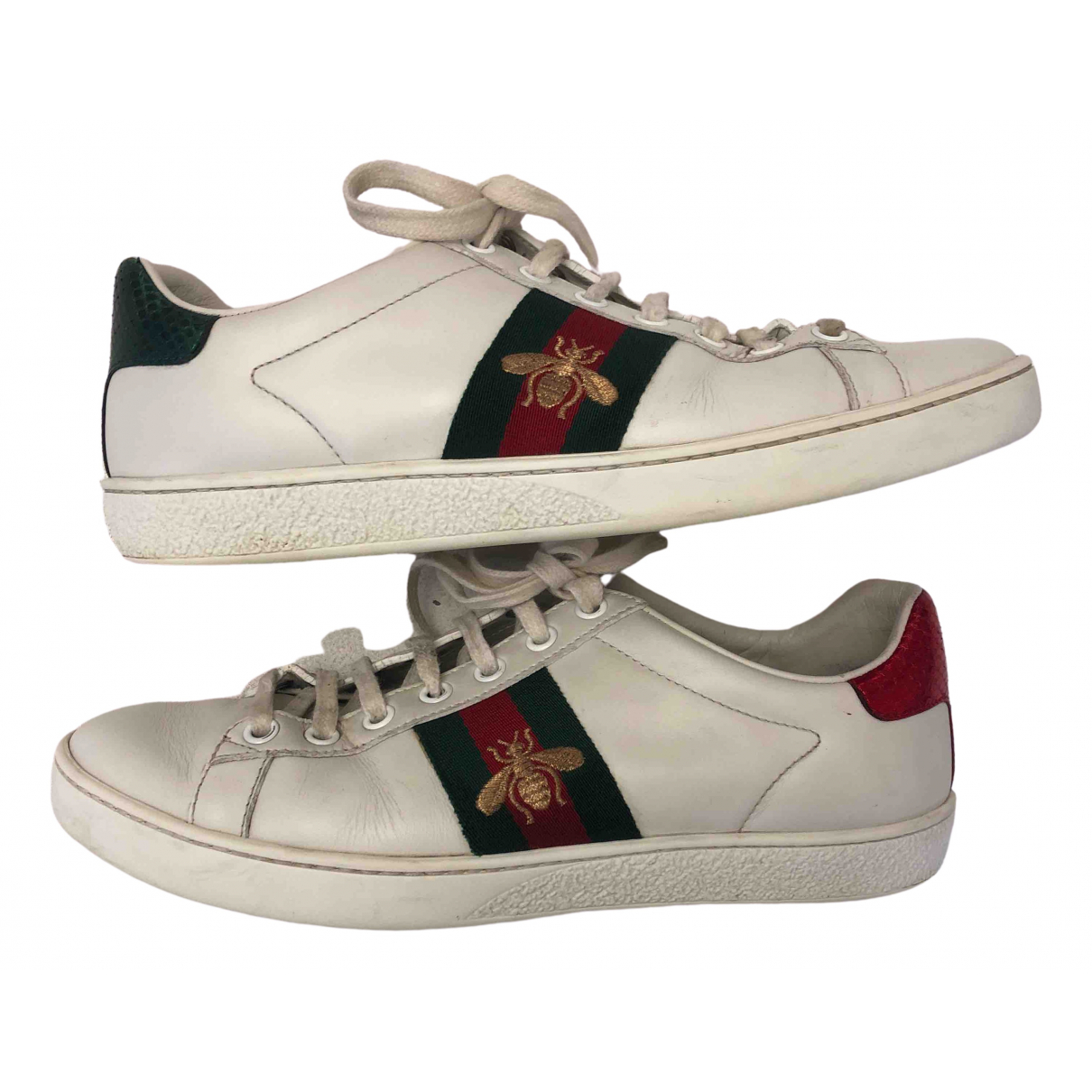 Gucci Ace White Leather Trainers for Women 37 IT