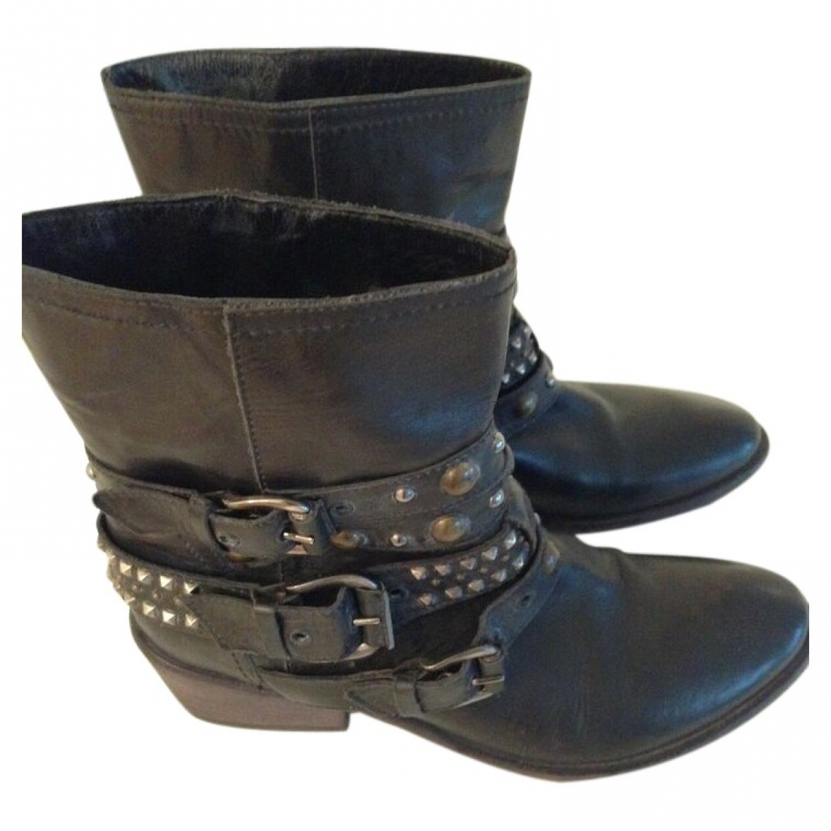 Barneys New York \N Stiefel in  Schwarz Leder