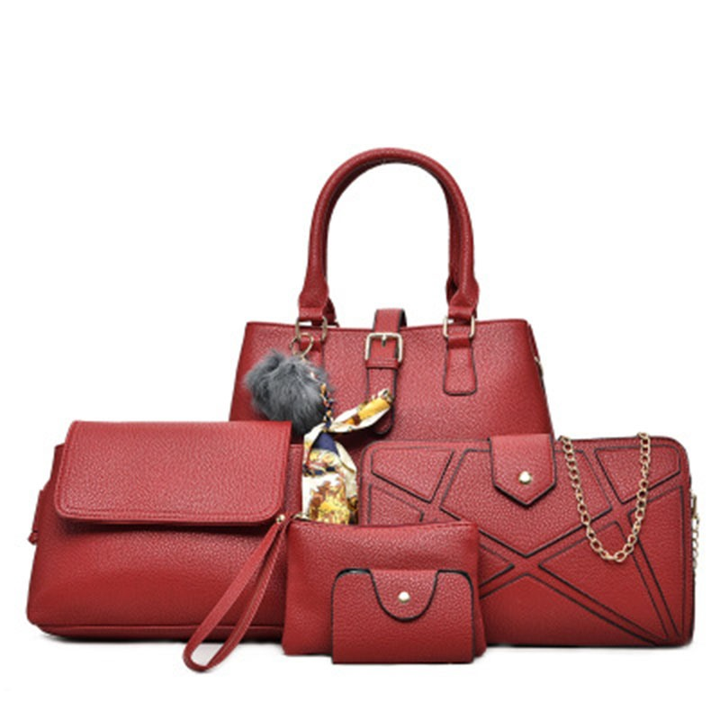 Ericdress Occident Style Solid Color PU Handbag(5 Bags)