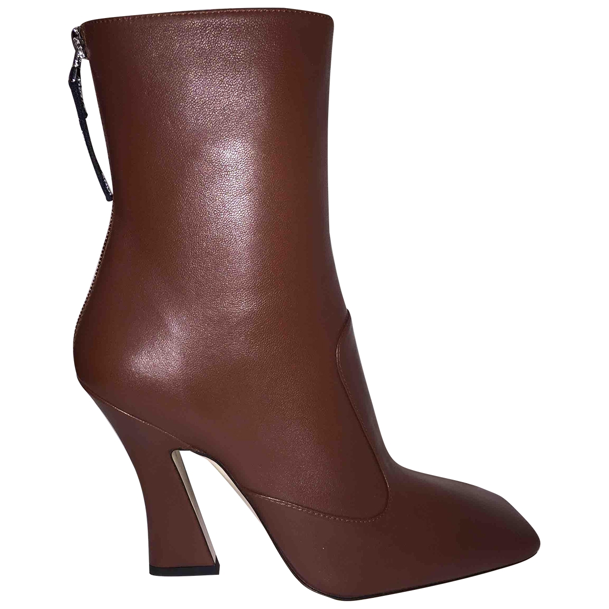 Fendi \N Brown Leather Boots for Women 38 EU