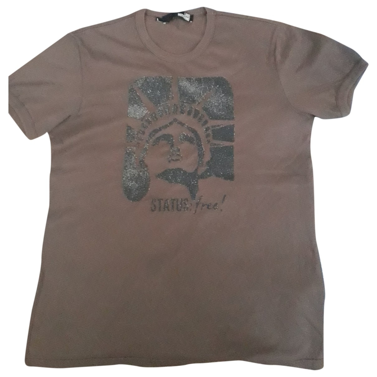 Moschino Love - Tee shirts   pour homme en coton - marron